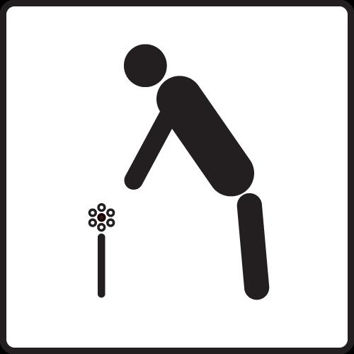 Icon Blumen pflücken