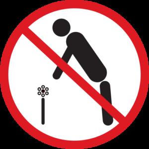 Icon Blumen pflücken verboten