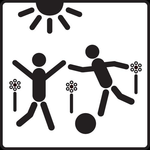 Spielende Kinder (schwarz/weiß) - Piktogramme im Netz