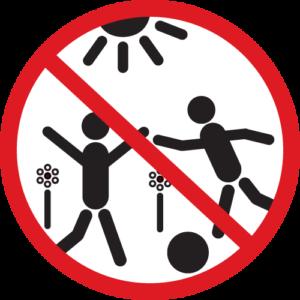 Spielende Kinder verboten
